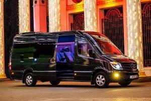 Mercedes Sprinter черный VIP микроавтобус в аренду