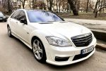 Mercedes 221 белый 2012 год арендовать на свадьбу код 255
