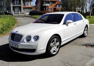 VIP авто Bentley Continental белый на прокат на свадьбу
