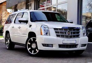 Cadillac Escalade белый аренда на свадьбу киев