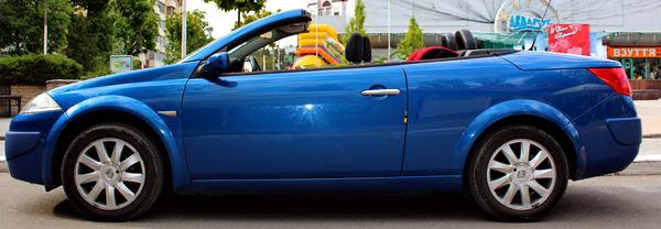 Renault megane coupe cabriolet синий кабриолет на прокат в киеве