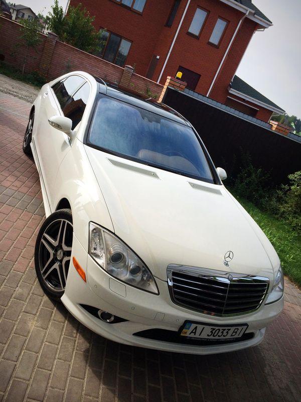 Mercedes W221S550 белый арендовать киев