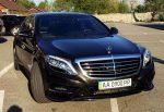 Аренда Mercedes W222 S500L AMG черный авто бизнес класса Киев цена