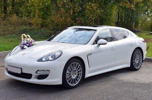 Porsche Panamera белая на свадьбу заказать