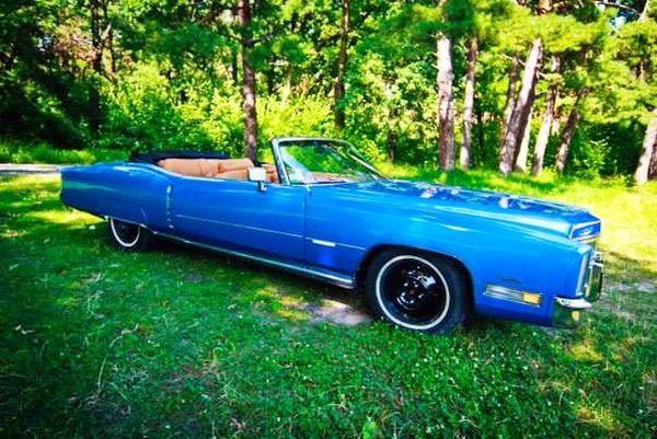 Cadillac eldorado голубой кабриолет на свадьбу