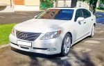 Аренда Lexus LS460 белый авто бизнес класса Киев цена