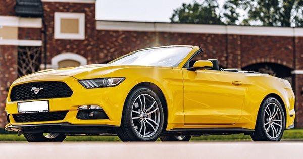 Ford Mustang GT желтый кабриолет заказать кабриолет