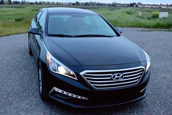 Hyundai Sonata черная аренда киев