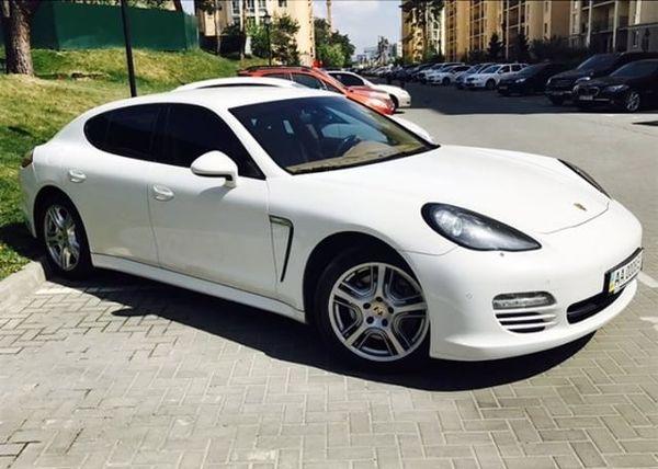 Porsche Panamera белый на свадьбу