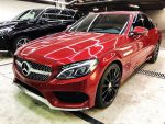 Аренда Mercedes C300 красный Киев цена