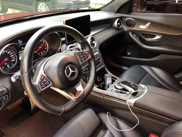 Mercedes C300 красный прокат аренда в киеве