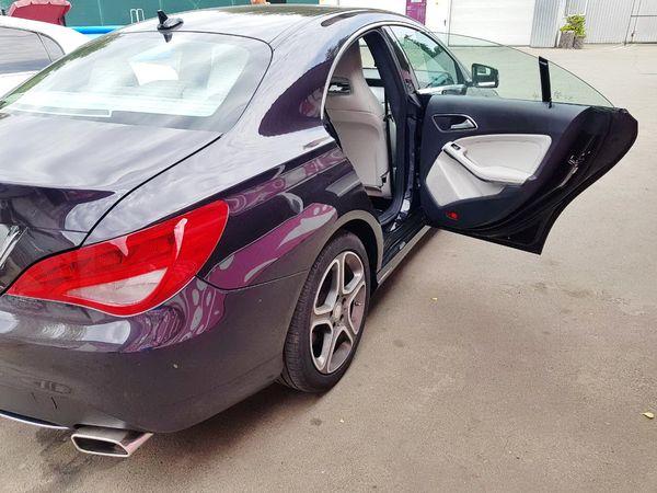 Mercedes CLA фиолетовый на свадьбу киев
