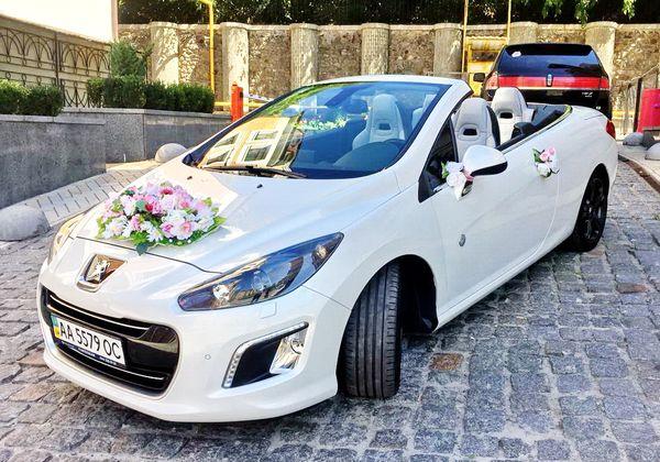Peugeot 308CC белый кабриолет на свадьбу