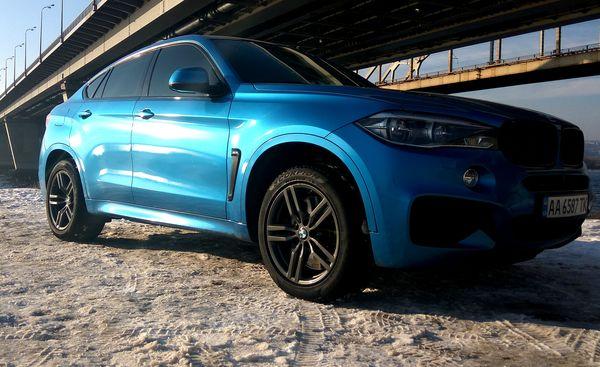 BMW X6 М50D синий на свадьбу джип киев