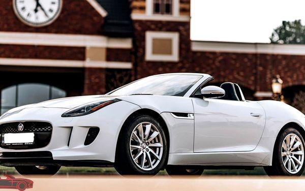 Jaguar F-Type белый арендовать на свадьбу