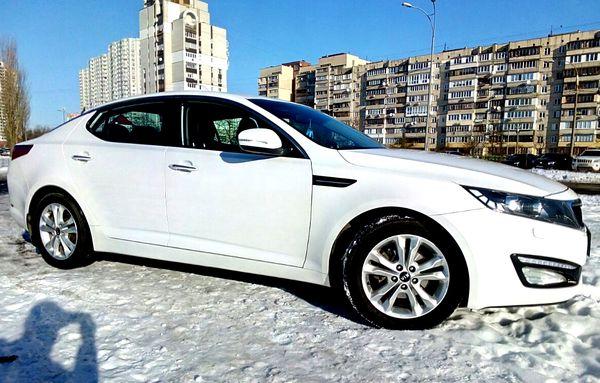 Kia Optima белый аренда киев