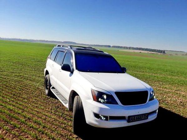 Lexus GX470 белый прокат аренда киев