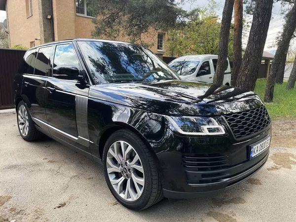 Range Rover Vogue 4,4d черный на прокат без водителя арендовать