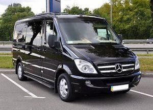 Mercedes Sprinter черный на свадьбу трансфер