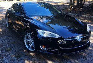 Tesla S P85 аренда на свадьбу в киеве