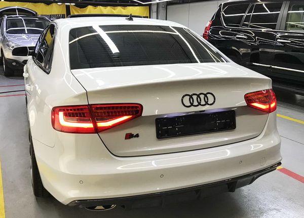 Audi S4 белая аренда авто на свадьбу
