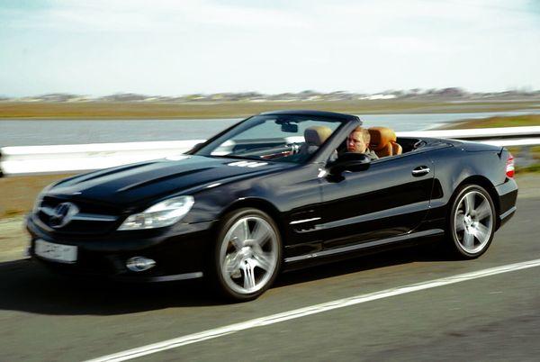 Mercedes SL500 черный кабриолет на свадьбу в киеве