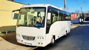 Isuzu белый автобус аренда в киеве