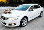 Volkswagen Passat сс белый арендовать на свадьбу код 099