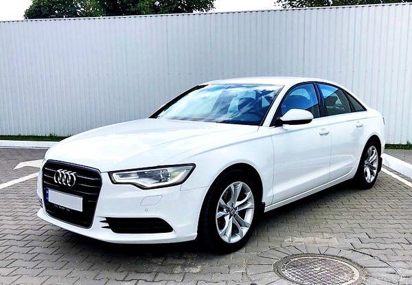 Audi А6 белая машина на свадьбу в киеве