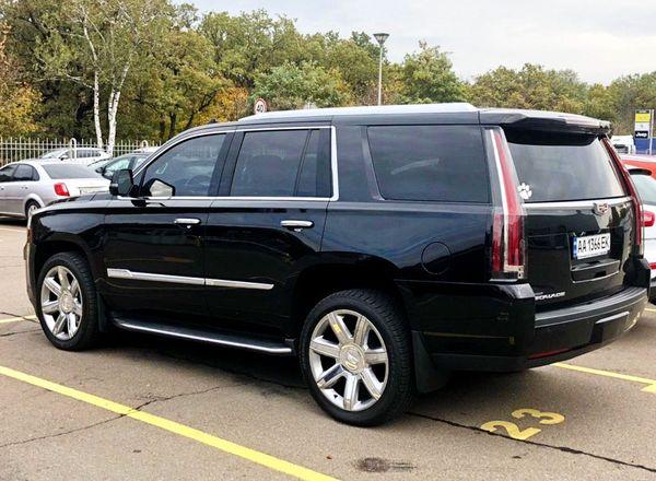 Cadillac Escalade черный 2015 заказать на свадьбу