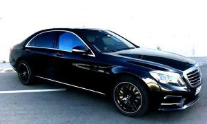 Mercedes W222 S500L черный прокат в киеве
