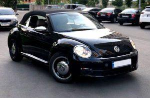 Volkswagen Beetle черный заказать на свадьбу съемки