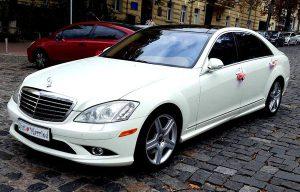 Mercedes W221 S550 белый на свадьбу трансфер