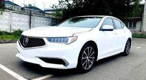 Acura TLX белая заказать машину на прокат на свадьбу