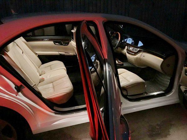 Mercedes W221 S500 белый заказать на свадьбу киев