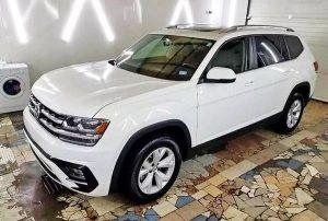 Volkswagen Atlas белый заказать на свадьбу