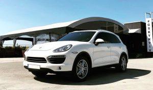 Porsche Cayenne белый на прокат на свадьбу