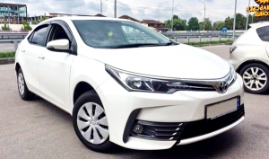 Toyota Corolla белая заказать на свадьбу